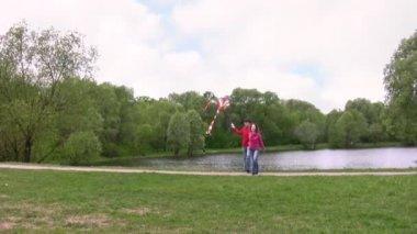 凧をカップルします。 — ストックビデオ