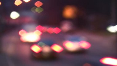 Car lights spots boke — Stock Video