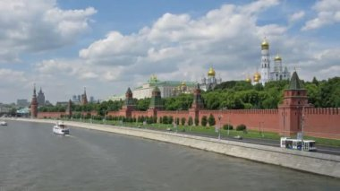 莫斯科克里姆林宫河梯玛失效 — 图库视频影像