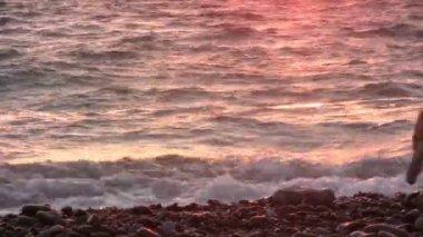 El yapımı piramidin beach — Stok video