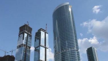 Skyscraper construction time lapse — Stock Video