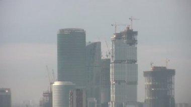 Skyscraper zoom city Moscow — Stock Video