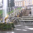 Samson and the Lion Fountain, Peterhof, Russia — Stock Video