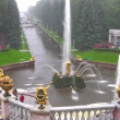 Stock Video: Samson and the Lion Fountain, Peterhof, Russia