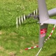 Stock Video: Helicopter propeller