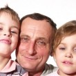 Royalty-Free Stock Vectorielle: Grandfather with children