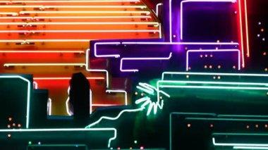 Night neon light casino 4 — Stock Video
