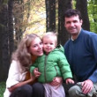 Parents with boy in park — Stock Video