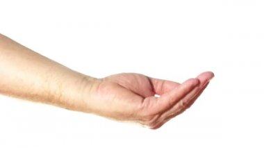 Starszy dłoni garść — Wideo stockowe