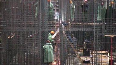 Reinforcement construction. — Stock Video