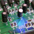 Stock Video: Rotating electronic circuit