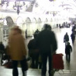 Crowd on metro station. Time lapse. — Stock Video