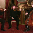 Stock Video: Violinists and violoncellist
