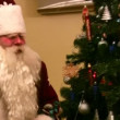 Stock Video: Entering Ded Moroz and christmas tree