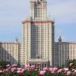 Stock Video: Lomonosov Moscow State University from bottom to top