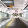 Moving on travelator — Stock Video