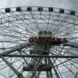 Stock Video: Ferris wheel bottom view