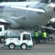 Stock Video: Into plane load luggage