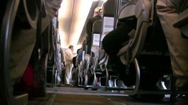 In het vliegtuig — Stockvideo