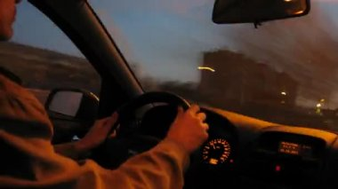 Driver on quick driving — Stock Video