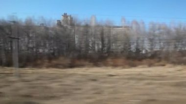 Moving past grain elevator — Stock Video