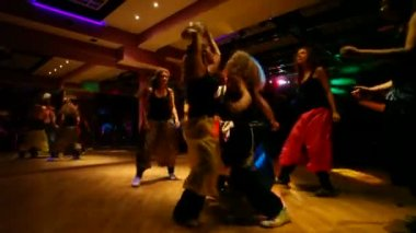 Dance troupe dancing with ball — Stock Video