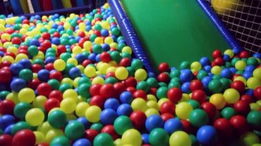 Nursery playing room with balls — Stock Video