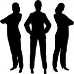 Three businesswoman — Stock Vector #16646683
