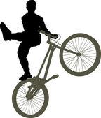 Bike trick vector — Stock Vector