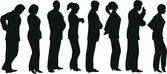 Business lineup — Stock Vector