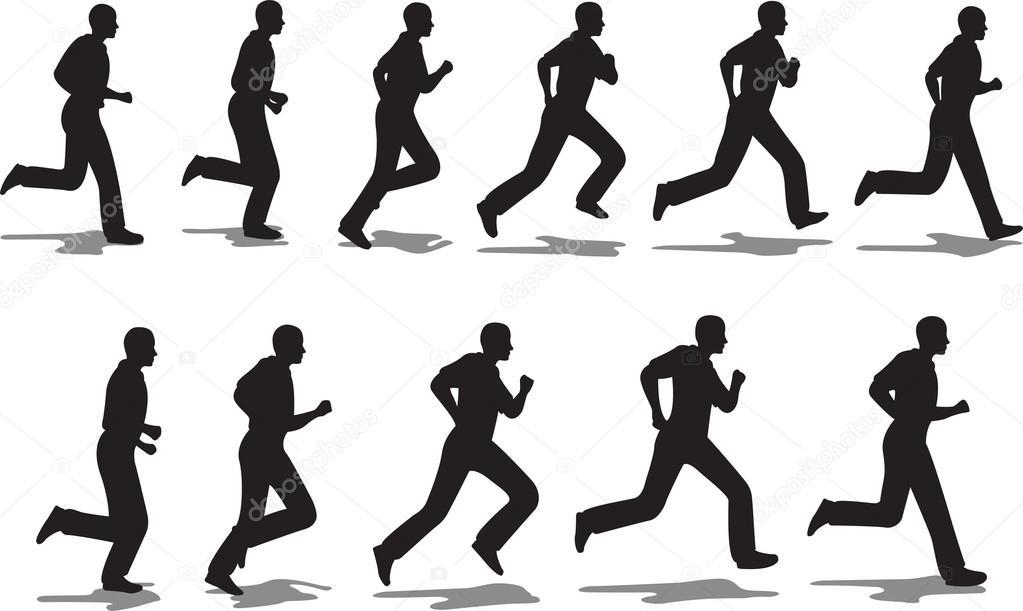 Running Logo Vector Vector Running Man Full Cycle