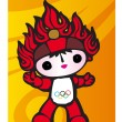 Stock Vector: Mascot for 2008 Olympics