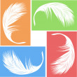 Feather vector — Stock Vector