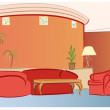 Sofa hotel interior vector — Stock Vector