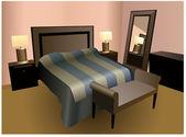 寝室のベクトル — ストックベクタ