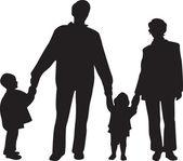 Rodina čtyř vektoru — Stock vektor