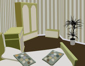Vettore di camera da letto bambino — Vettoriale Stock