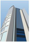 Vektorové kancelářská budova — Stock vektor