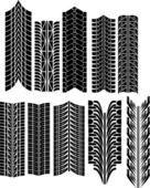 Tire prints vector — Stock Vector