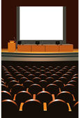 Conference hall — Stock Vector