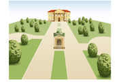 Park mansion vector — Stock Vector