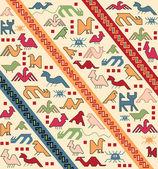 Geometrical animals oriental carpet vector — Stock Vector