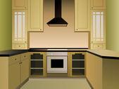 Brown kitchen vector — Stock Vector