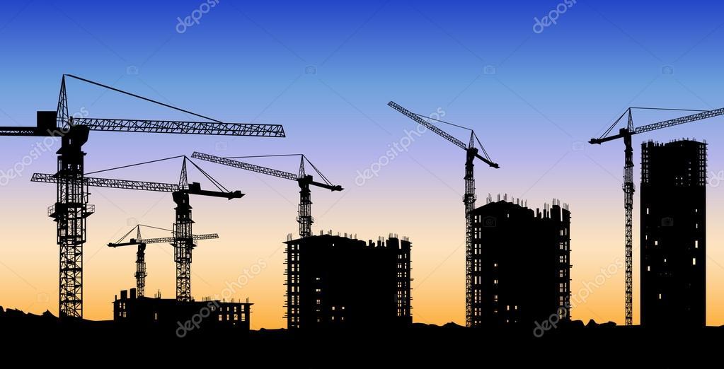 Vector de construcci n del edificio vector de stock for Videos de construccion de edificios