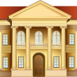 Stok Vektör: Mansion with columns vector