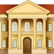 Mansion with columns vector — Stockvectorbeeld
