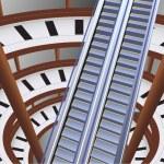 Escalator in shop — Stock Vector