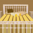 Luxurious bed vector - Stock vektor