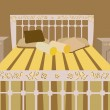 Luxurious bed vector - Image vectorielle