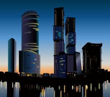 Moscow Skyscraper construction vector